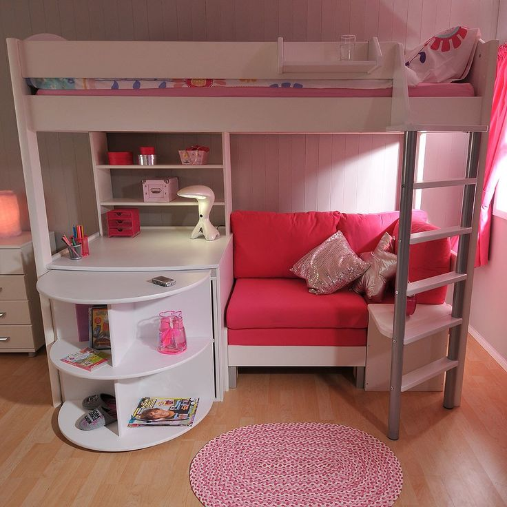 Stompa Casa 4 High Sleeper with Sofa Bed & Pull Out Desk – Family Window