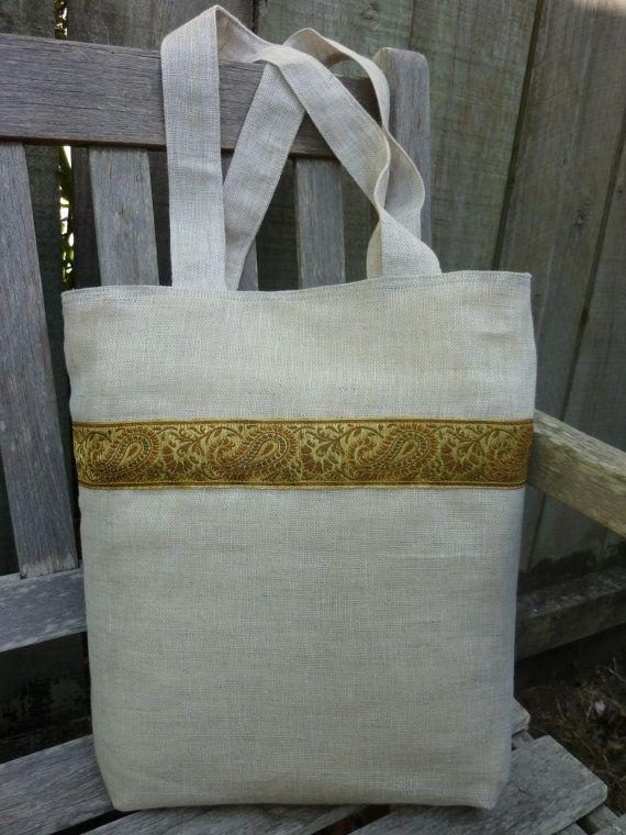 SOLD - Ankara Linen Tote Bag