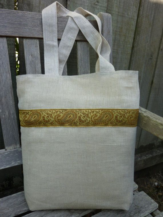 Ankara Linen Tote Bag