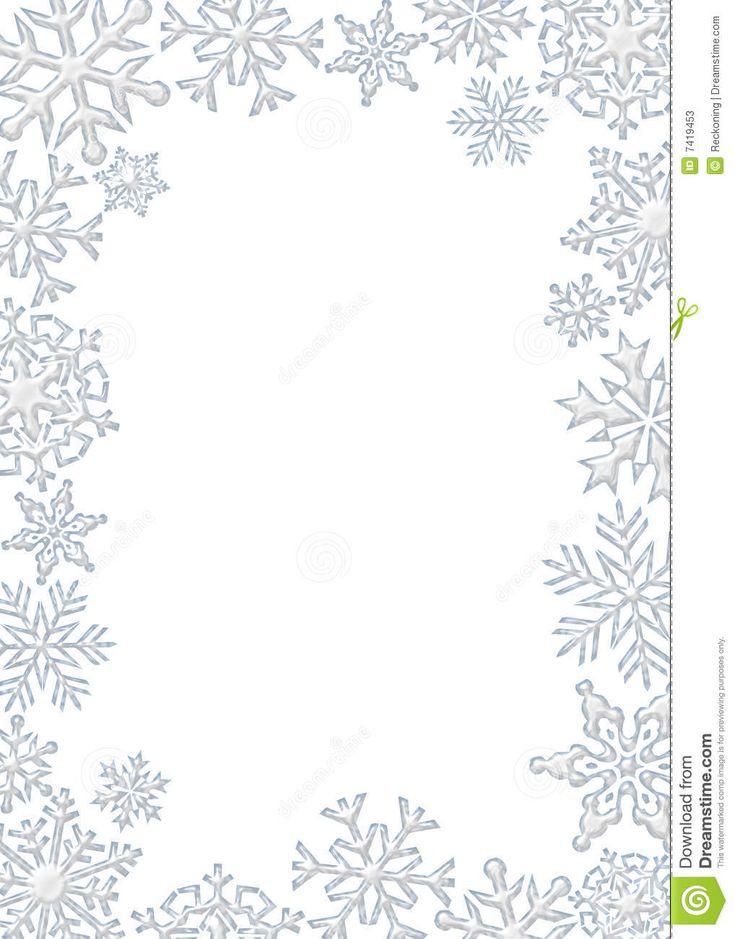 christmas snowflakes border - photo #6
