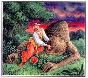 Книги: Аленький цветочек: С.Т.Аксаков. 1858г. Сюжет: Красавица и Чудовище.