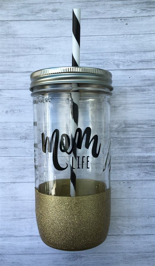 Mom Life Mason Jar Tumbler | Perfect Mother's Day Gift | Jane