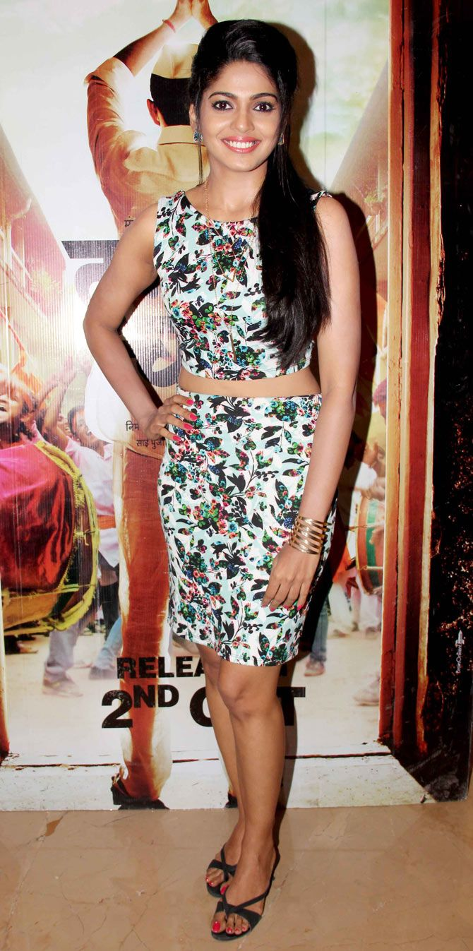 Pooja Sawant at the screening of #Marathi film 'Daagadi Chaawl'. #Bollywood #Fashion #Style #Beauty #Hot