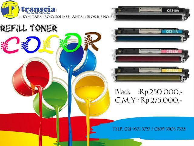 refill tinta & toner printer inkjet laserjet Canon,Hp,Epson,Brather,Samsung,Panasonik,Xerox: Refill Toner Color Murah Jakarta