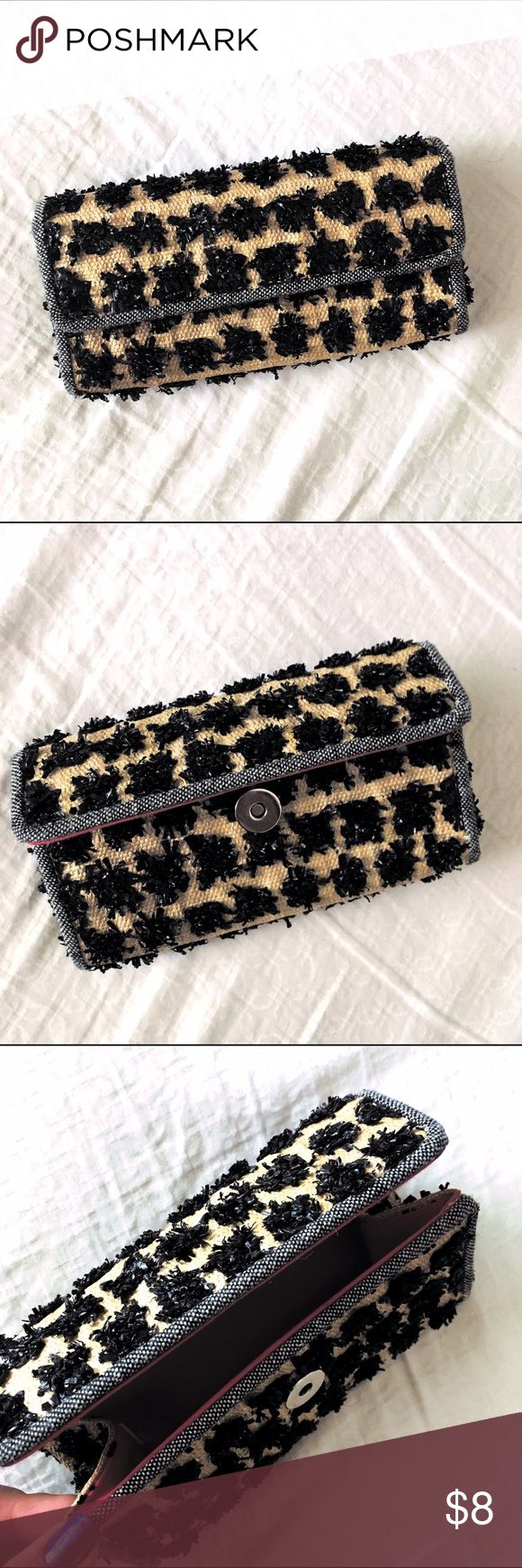 Leopard Makeup Brush Clutch Barely used and in excellent condition. Magnetic closure. Bags Cosmetic Bags & Cases
