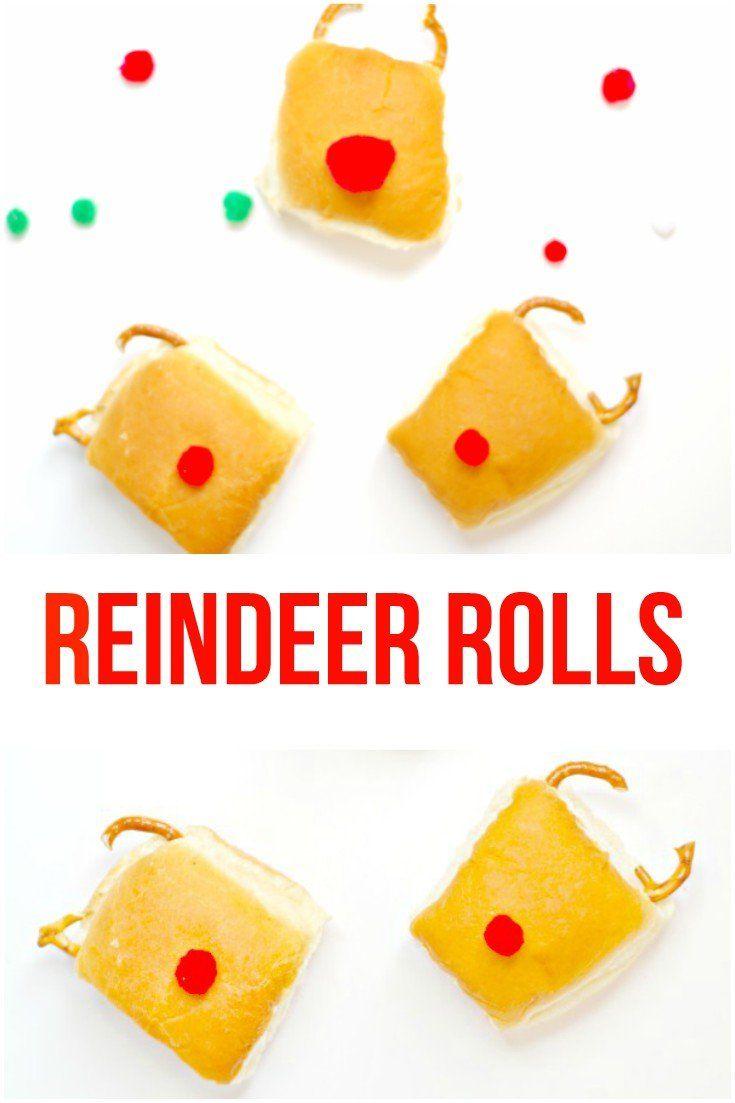 Reindeer Rolls! The Easiest Christmas Party Food!