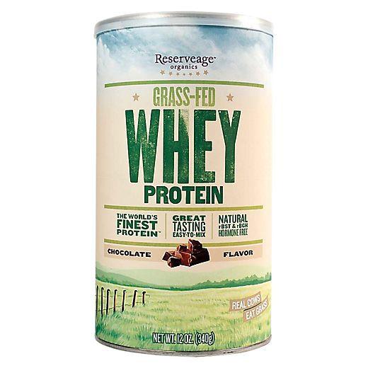 Grass Fed Whey Protein - Chocolate (12.7 Ounces Powder) by Reserveage Organics at the Vitamin Shoppe Mobile