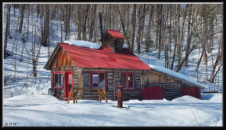 Cabane e Sucre (a maple syrup production farm) in Canada
