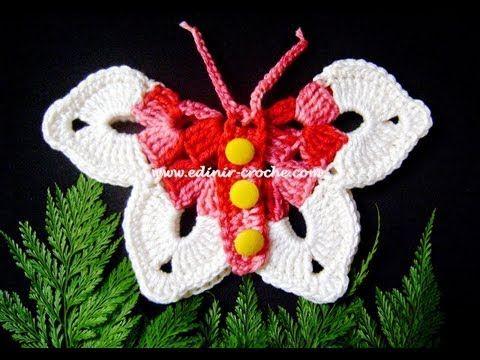 Farfalla all'uncinetto