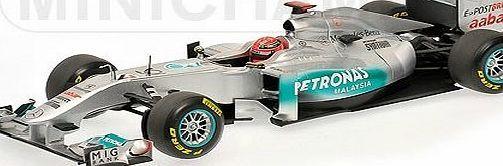 Minichamps Mercedes Petronas W02 (Michael Schumacher 2011 Showcar) Diecast Model Car Mercedes Petronas W02 (Michael Schumacher 2011 Showcar) in Silver and Black (1:18 scale by Minichamps 110110077)This diecast model Mercedes Petronas W02 (Michael Schuma (Barcode EAN = 4012138107595) www.comparestorep...