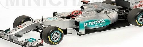 Minichamps Mercedes Petronas W02 (Michael Schumacher 2011 Showcar) Diecast Model Car Mercedes Petronas W02 (Michael Schumacher 2011 Showcar) in Silver and Black (1:18 scale by Minichamps 110110077)This diecast model Mercedes Petronas W02 (Michael Schuma (Barcode EAN = 4012138107595) www.comparestorep...