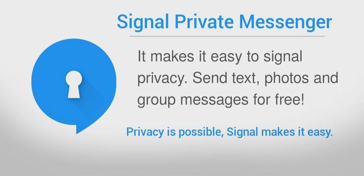 Signal Private Messenger v3.9.0   Martes 29 de Diciembre 2015.  Por: Yomar Gonzalez | AndroidfastApk  Signal Private Messenger v3.9.0 Requisitos: Android 2.3 o superior Descripción: La privacidad es posible la señal hace que sea fácil. El uso de la señal puede comunicarse al instante evitando gastos de SMS crear grupos para que pueda chatear en tiempo real con todos sus amigos a la vez y compartir los medios de comunicación o accesorios todo con total privacidad. El servidor nunca tiene…