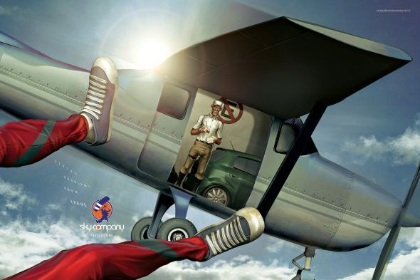 Sky Company Skydiving: Police | Ads of the World™