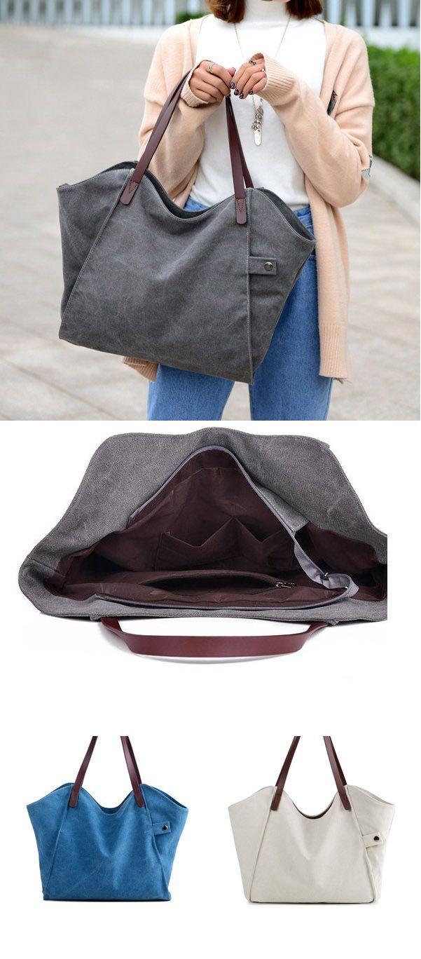 e5f22558e094 Bagail Casual Durable Thicker Canvas Handbag Light Casual Large Capacity  Shoulder Bag For Women  largehandbagsforwomen