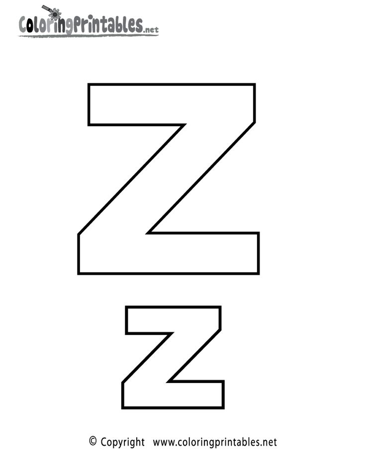 Alphabet letter z coloring page a free english coloring printable