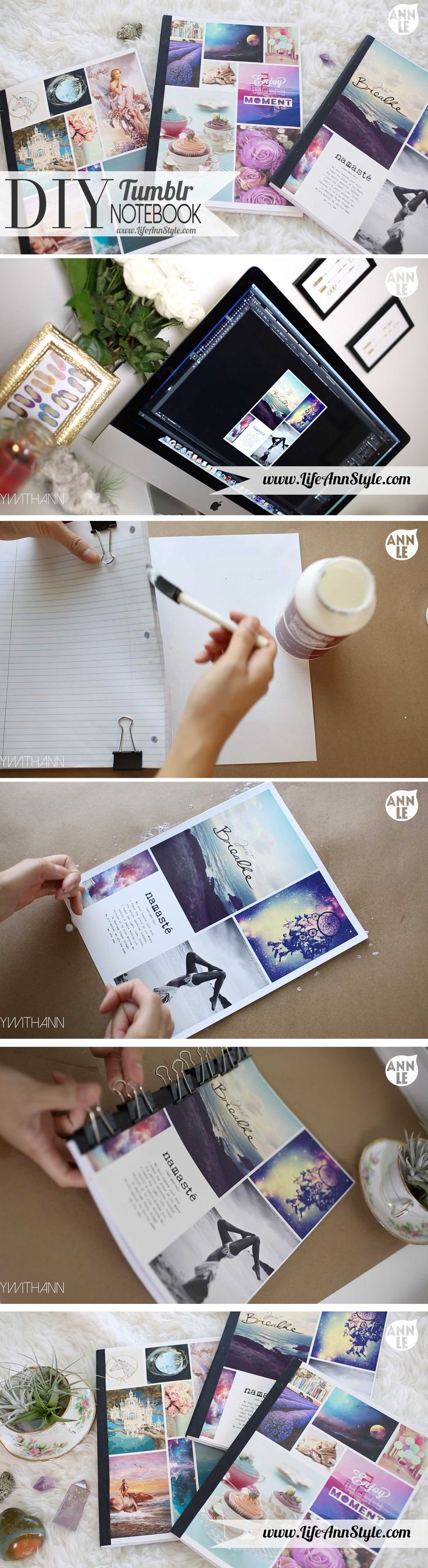I'll be making me some of these next week! DIY Tumblr Inspired Notebooks! | lifestyle #BacktoSchool #DIY #LifeAnnStyle