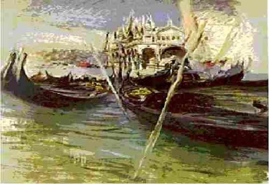 Джованни Болдини Гондолы в Венеции