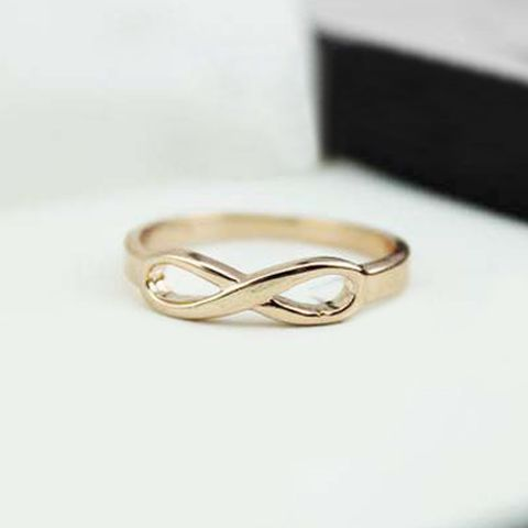 Simple Hollow Splayed Design Alloy Ring For Women (AS THE PICTURE,ONE SIZE) | Sammydress.com