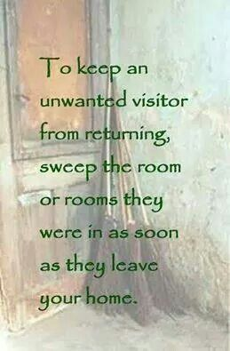 Magick Spells: To Keep an Unwanted Visitor From Returning #Spell.