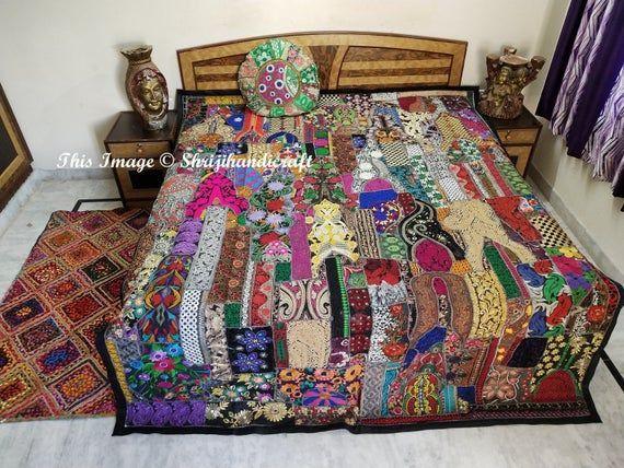 Indische Bettwasche Patchwork Tagesdecke Bettwasche Bettlaken