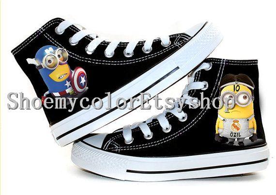 minion Converse shoes Despicable Me minion by ShoemycolorEtsyshop, $55.99