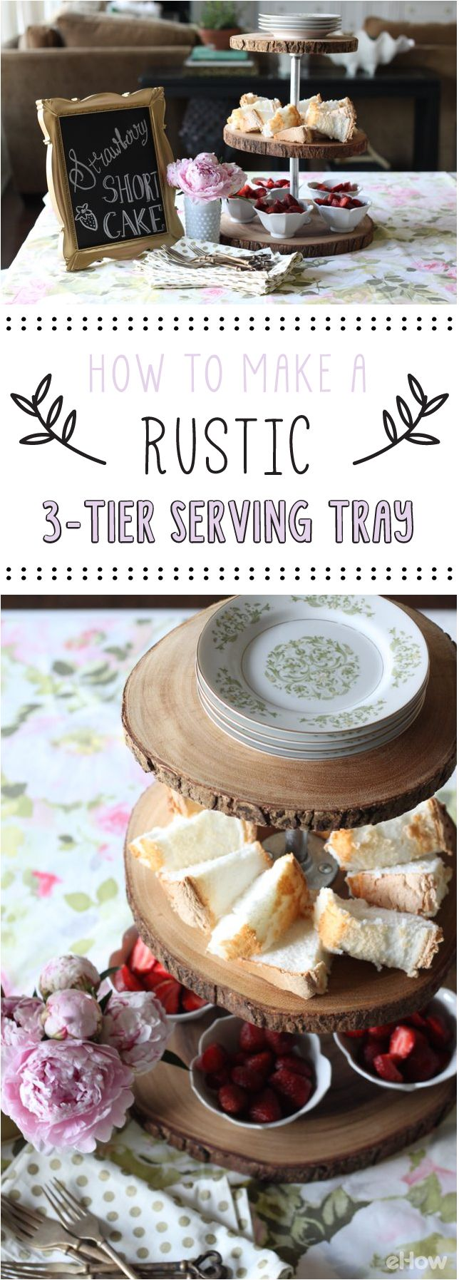 We are so in love with this rustic 3-tier serving tray. It's just as functional as it is beautiful and the DIY is so easy, you just have to do this: http://www.ehow.com/how_12340605_make-rustic-3tier-serving-tray.html?utm_source=pinterest.com&utm_medium=referral&utm_content=freestyle&utm_campaign=fanpage