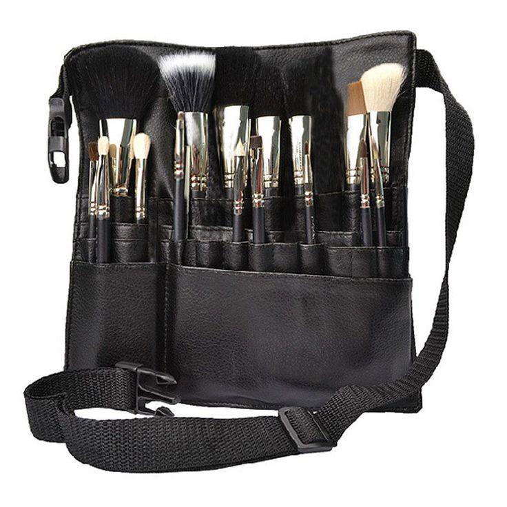 Великобритания профессиональный косметические кисти для макияжа фартук исполнитель ремня для крепления ремешка черный