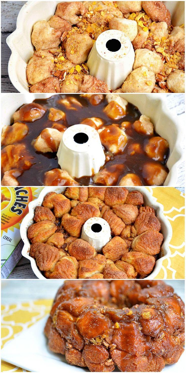 Ooey Gooey Caramel Apple Cinnamon Monkey Bread Recipe - Quick & Easy breakfast or dessert!