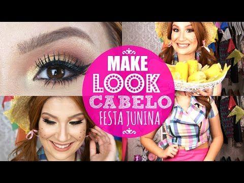 Maquiagem, cabelo e look para festa junina! ♡ Por Bianca Andrade - YouTube