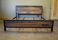 Kraftig Bed Number 4 with Walnut by deliafurniture on Etsy, $1600.00