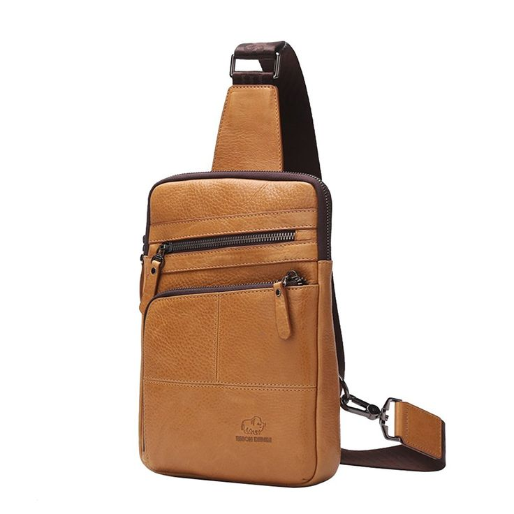 Men's Leather Shoulder Bag Crossbody Sling Hiking Satchel Chest Bags Pack Small Backpack Cool >>> See this great image  : Backpacks for hiking