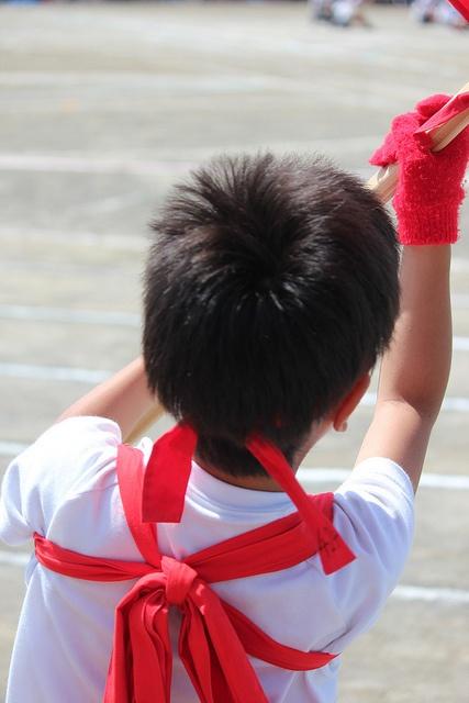 Undoukai- Flag-waver by Pam S O, via Flickr
