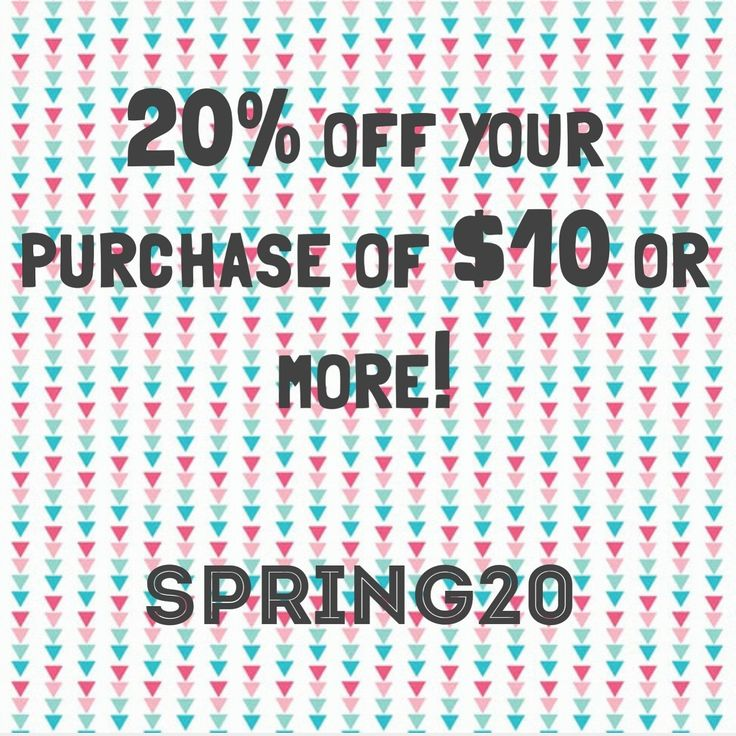 Today is the last day for 20% off!! Just spend $10 or more and use code SPRING20, let's celebrate the warm weather! PLUS, April is free gift with purchase month!! Xo