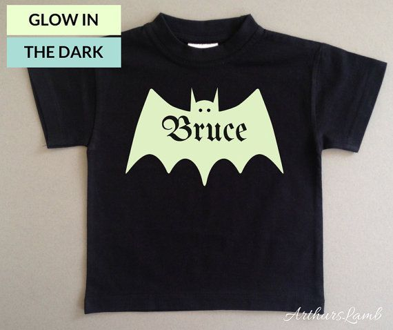 Bats are super spooky, especially at Halloween!! And with this personalised Glow in the Dark Bat t-shirt you are sure to stand out!! So whether you are looking for a first Halloween costume or a Halloween gift, this shirt personalised with any name will be a much loved addition to the spooky day!! When ordering, please note the name required in Comments to Seller box during checkout. I only use t-shirts made from 100% cotton fabric. I personally customised the design and apply all the…