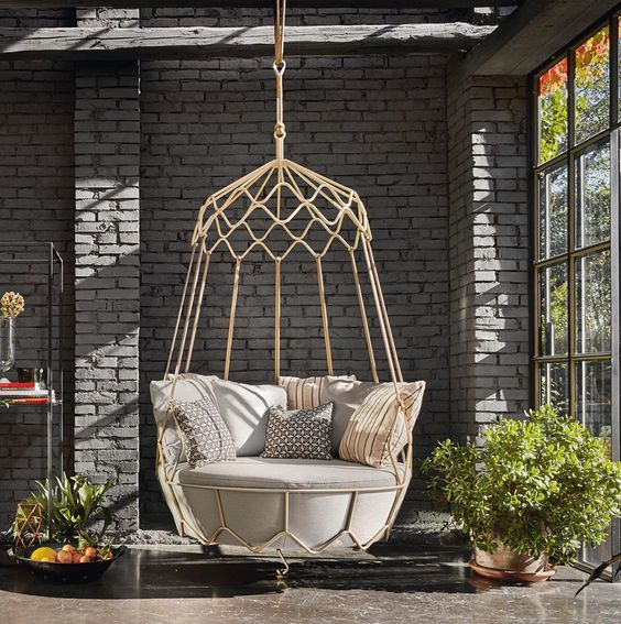 25 best indoor hanging chairs ideas on pinterest - Indoor hammock hanging ideas ...