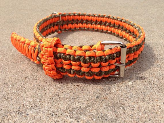 Adjustible reflective paracord dog collar paracord for Paracord leash instructions