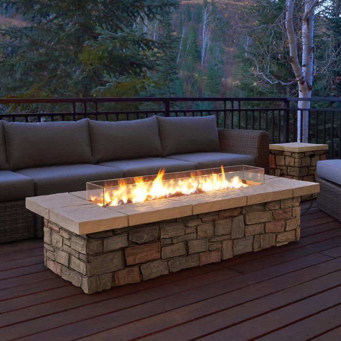 Real Flame Sedona Concrete Propane Gas Fire Pit Table Wayfair Ca