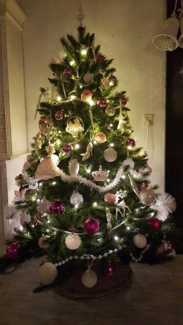 Kerst boom Roze en wit