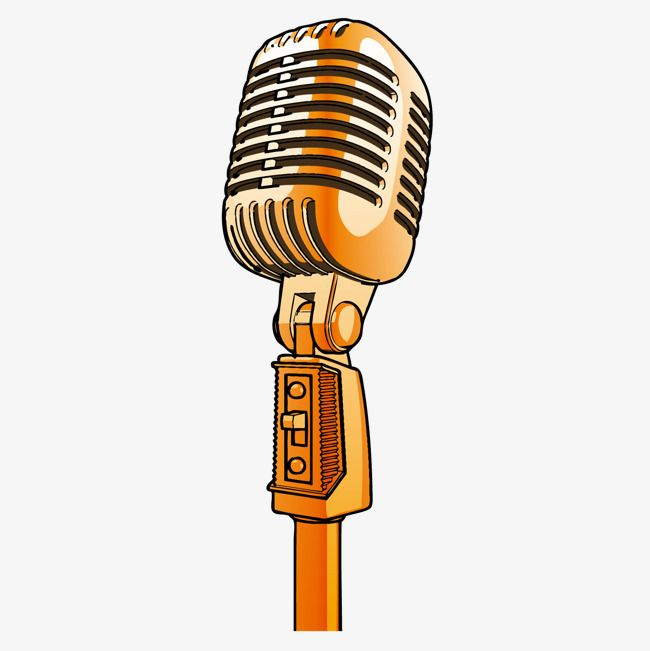 Cartoon Microphone Cartoon Microphone Gold Microphone Png Transparent Clipart Image And Psd File For Free Download Microphone Art Music Cartoon