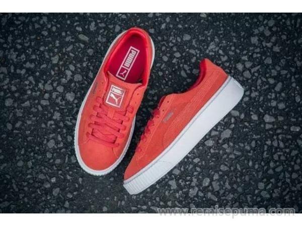 pourquoi beaucoup d'hommes préfèrent Chaussures Puma Homme Rihanna Suede blanc rouge couleur?