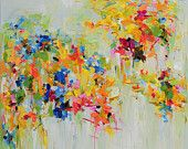 Spring Garden  giclee print from abstract oil painting  12x12