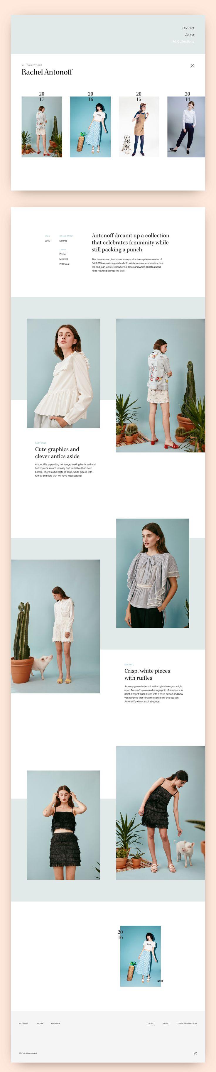 Collection page concept #ui #web #design