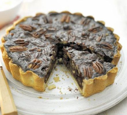Pecan pie crossed with chocolate tart with a dash of maple syrup - we can't argue with that