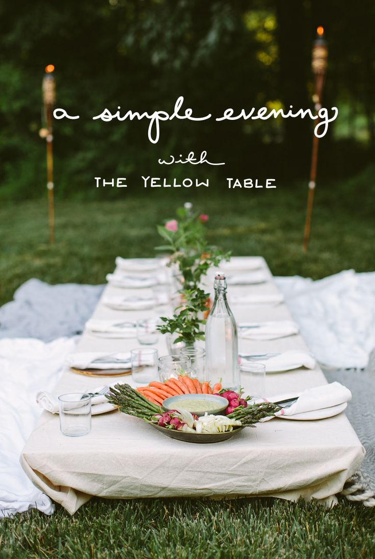 The Simple Evening with The Yellow Table  |  The Fresh Exchange
