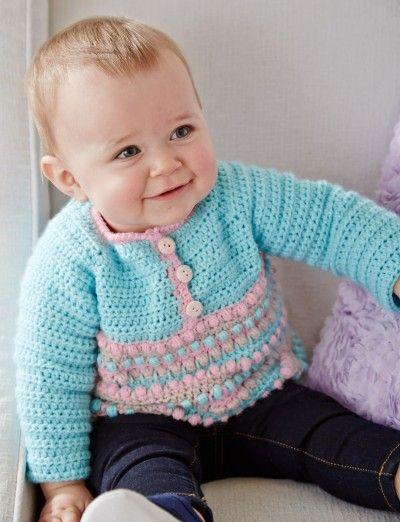 73 besten Crochet Baby Sweaters Bilder auf Pinterest | Jacken ...