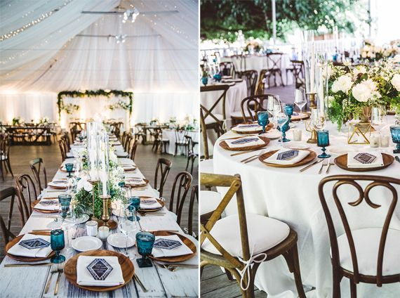 Inspiration Party Mariage Bohemin Decoration Table Bleu Mademoiselle