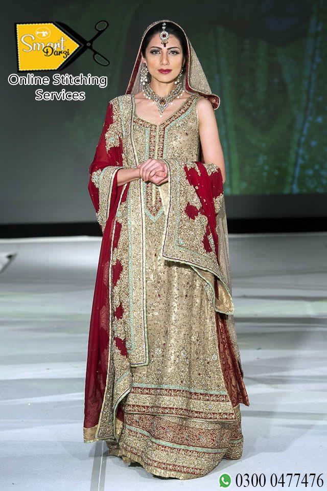 Bridal Pakistani Dress Smart Darzi Online Stitching Services Bridal Dress Design Pakistani Bridal Dresses Indian Bridal Fashion