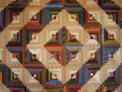 Barn Raising Log Cabin Quilt Made By Linda Halpin Nice