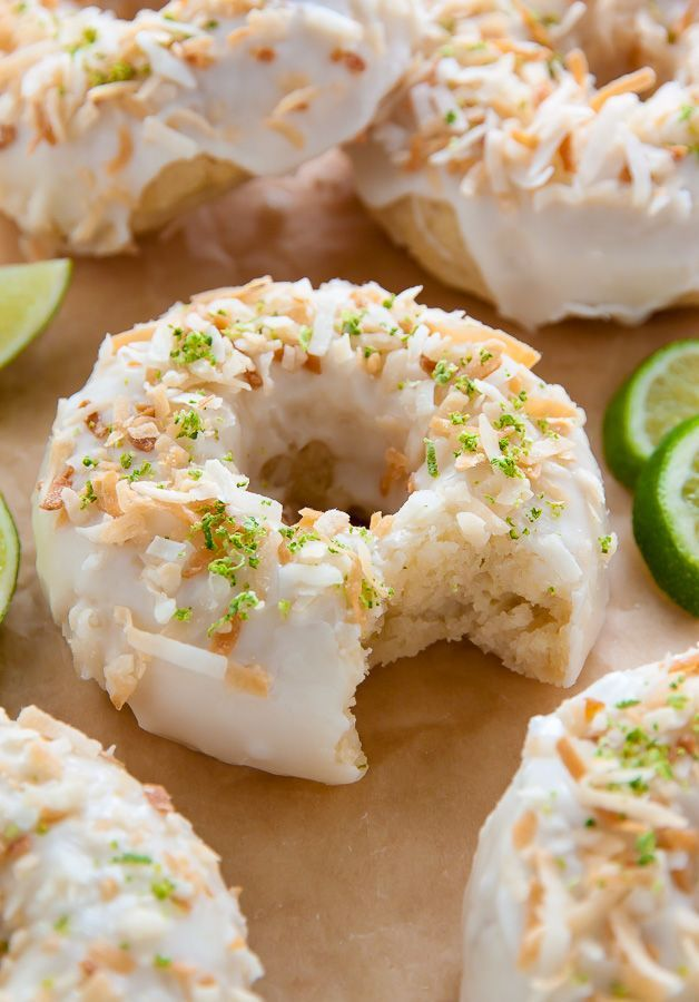 .~Fluffy and flavorful Key Lime Coconut Donuts are baked, not fried, and ready in less than 30 minutes~.