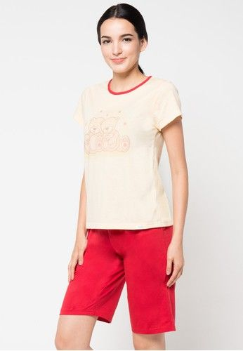 Short Sleeve Short Pants from Puppy in red and yellow_1